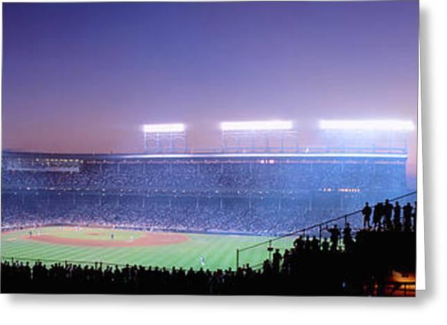 Baseball, Cubs, Chicago, Illinois, Usa Greeting Card