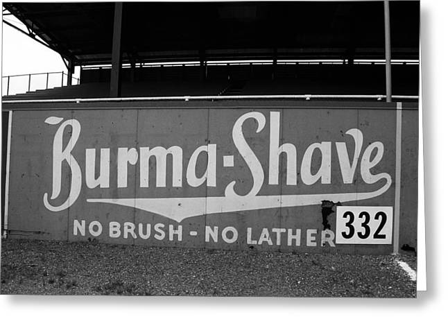 Baseball Field - Burma Shave Greeting Card by Frank Romeo