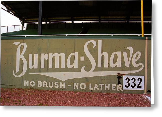 Baseball Field Burma Shave Sign Greeting Card by Frank Romeo
