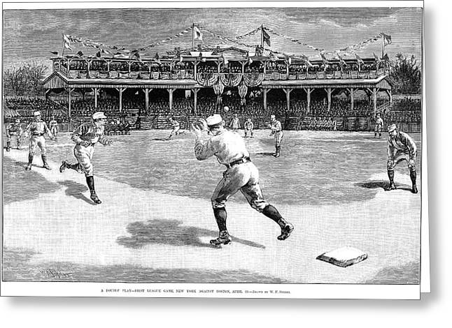 Baseball Game, 1886 Greeting Card