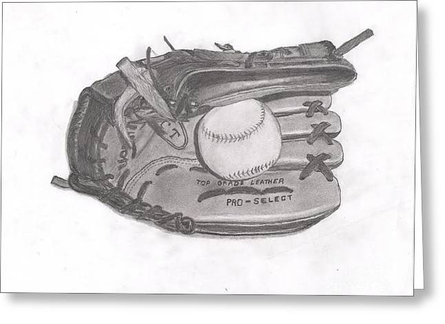 Baseball Glove Greeting Card by R S