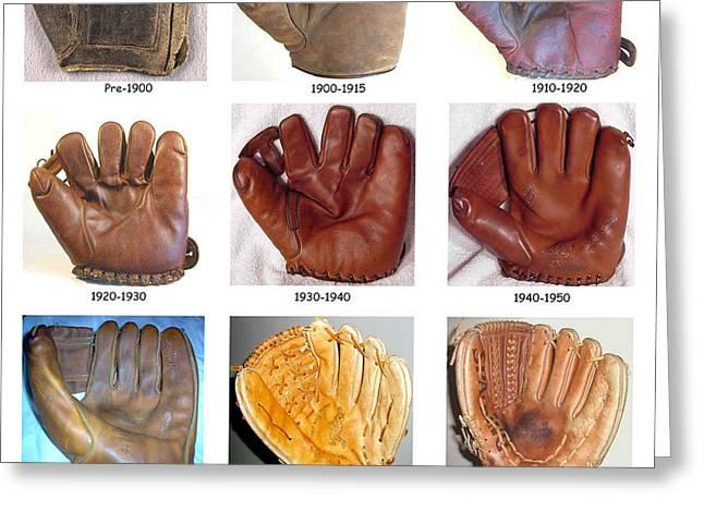 Baseball Glove Evolution Greeting Card