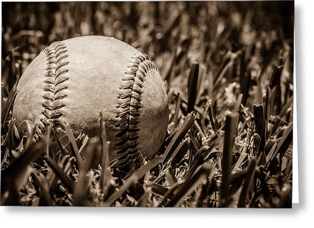 Baseball Nostalgia Series Number Three Greeting Card by Kaleidoscopik Photography