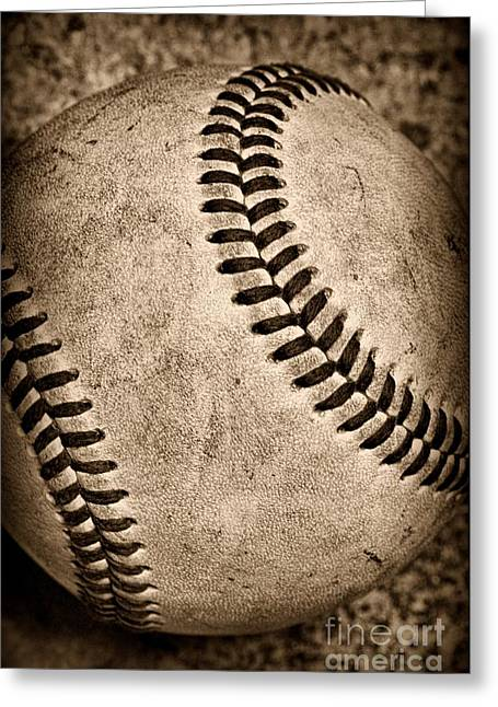 Baseball Old And Worn Greeting Card