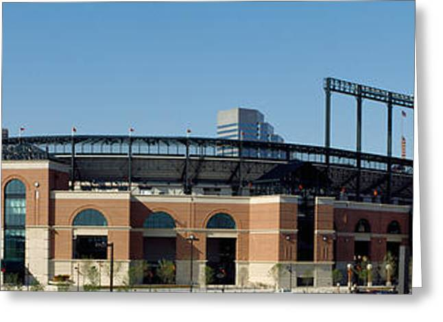 Baseball Park In A City, Oriole Park Greeting Card