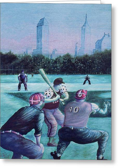 New York Central Park Baseball - Watercolor Art Greeting Card
