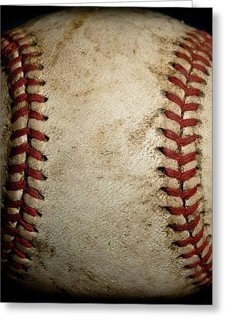 Baseball Seams Greeting Card