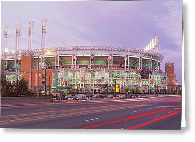Baseball Stadium At The Roadside Greeting Card by Panoramic Images