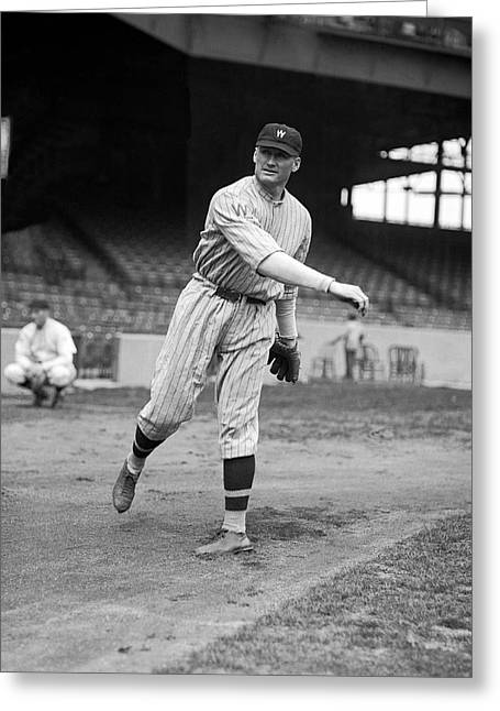 Baseball Star Walter Johnson Greeting Card