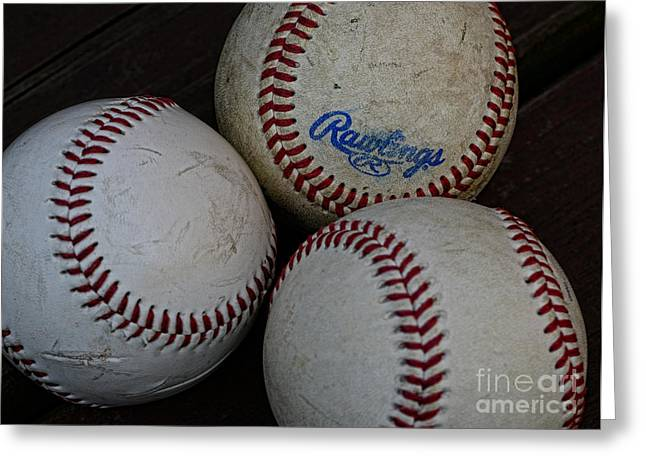 Baseball - The American Pastime Greeting Card by Paul Ward
