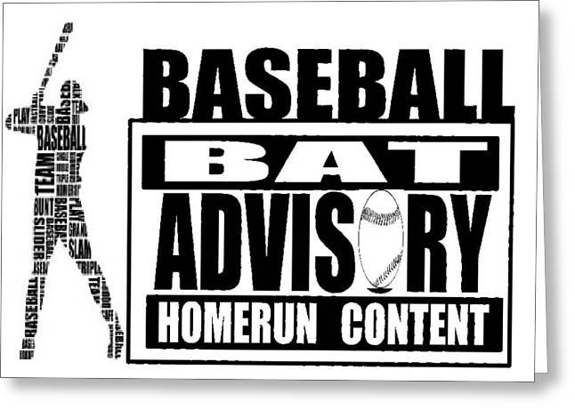 Baseball Greeting Card by Tony Curtis