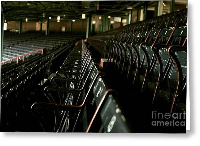 Baseball's Classic Bostons Fenway Park Seats Greeting Card by Doc Braham