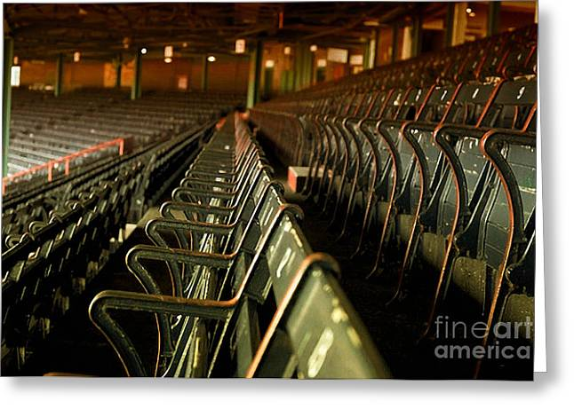 Baseball's Classic Bostons Fenway Park Vintage Seats Greeting Card by Doc Braham