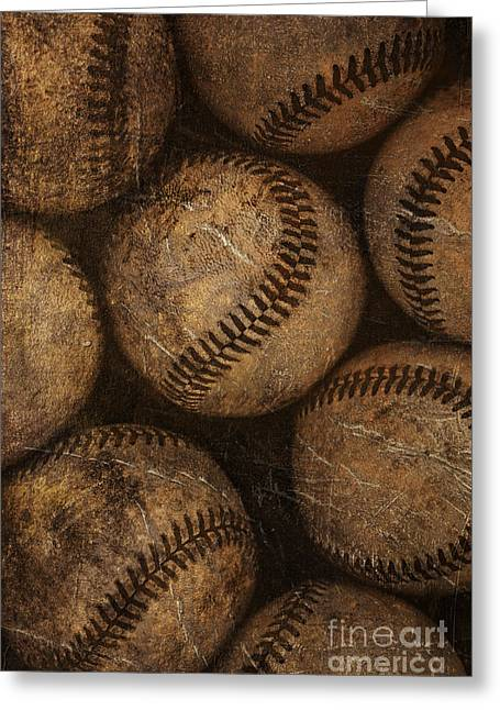 Baseballs Greeting Card by Diane Diederich