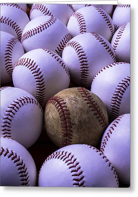 Baseballs  Greeting Card