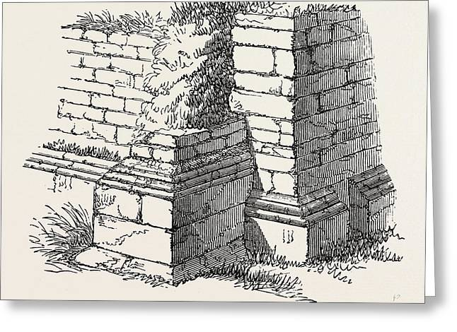 Basement Of Station On The Roman Wall Greeting Card
