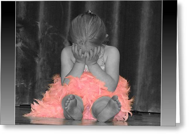 Bashful Ballerina Greeting Card