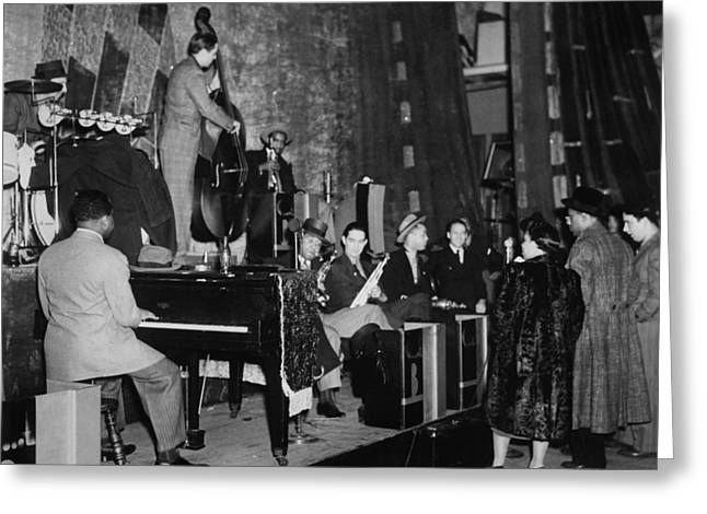 Basie Orchestra, C1941 Greeting Card