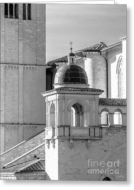 Basilica Details Greeting Card by Prints of Italy