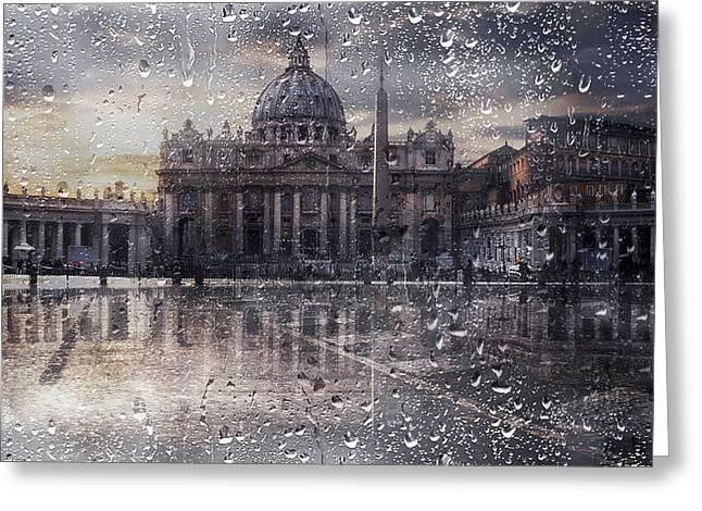 Basilica Di San Pietro Greeting Card by Nicodemo Quaglia