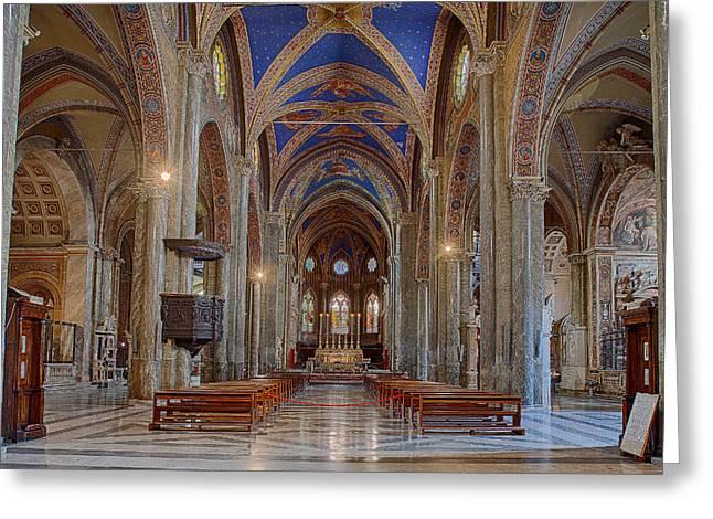 Basilica Di Santa Maria Sopra Minerva Greeting Card by Uri Baruch