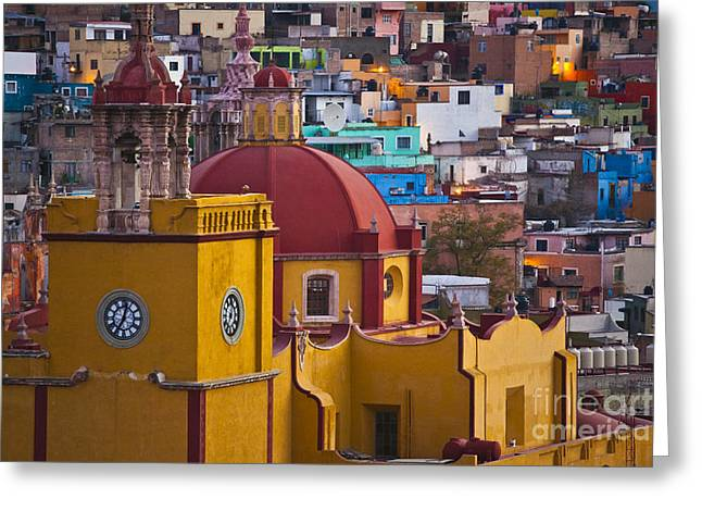 Basilica Of Our Lady Of Guanajuato Mexico Greeting Card