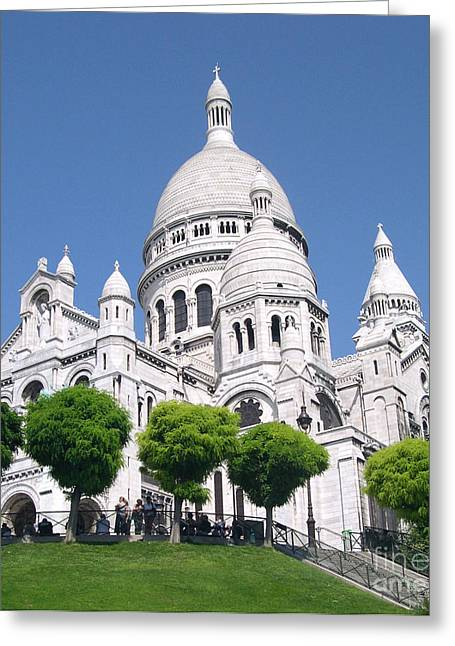 Basilica Of Sacre-coeur Greeting Card by Andrea Anderegg