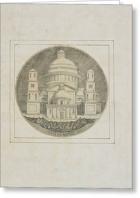 Basilica Of Saint Peter Greeting Card by British Library