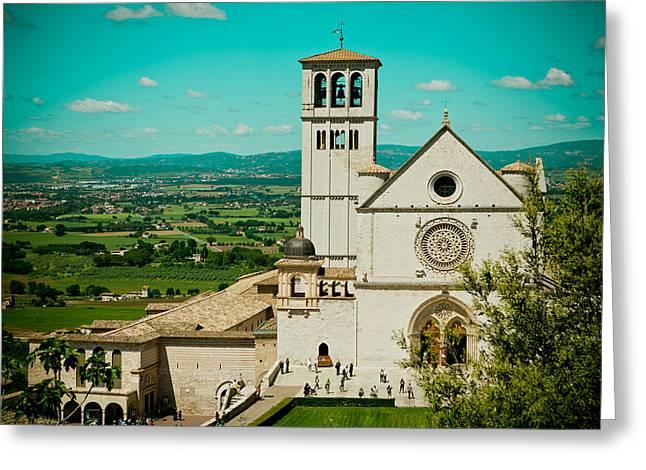 Basilica Of San Francesco Assisi  Greeting Card by Raimond Klavins