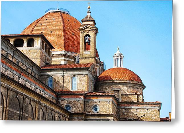 Basilica Of San Lorenzo Greeting Card by David Waldo