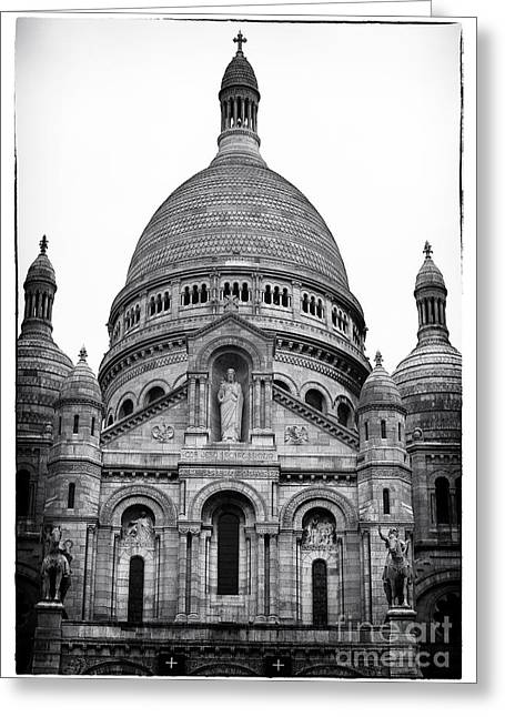 Basilica Of The Sacred Heart Of Jesus Greeting Card by John Rizzuto