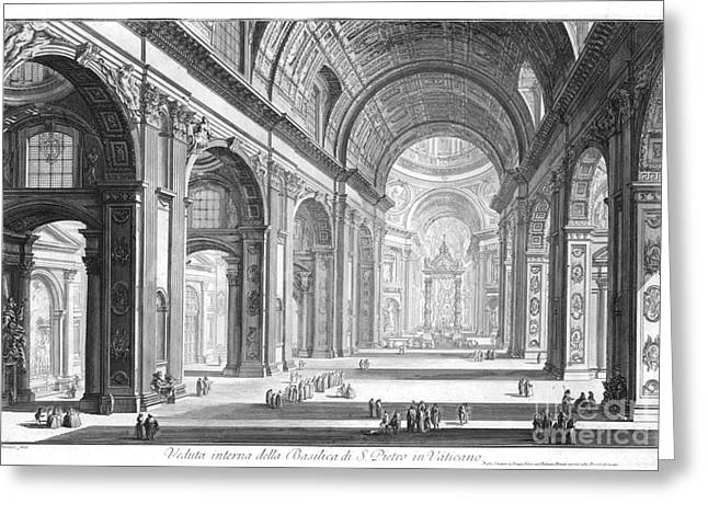 Basilica San Pietro Vaticano 1750 Greeting Card by Padre Art