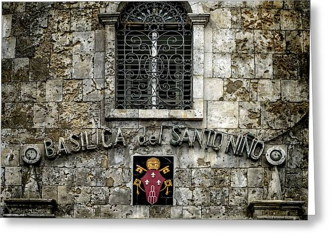 Basilica Sign Greeting Card by Adrian Evans