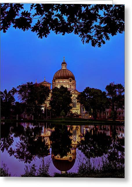 Basilica St. Josaphat Greeting Card by Anna-Lee Cappaert