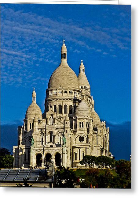 Basilique Du Sacre Couer Greeting Card by Dawn Wayand