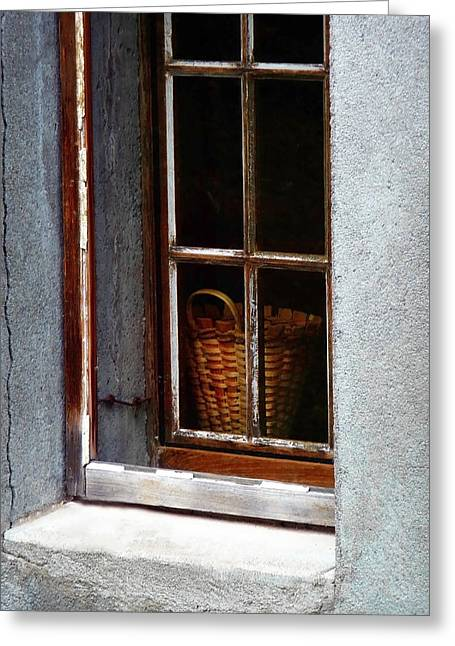 Basket In Window Greeting Card