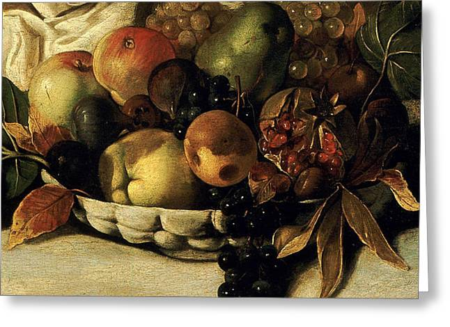 Basket Of Fruit Detail Bacchus Painting by Caravaggio