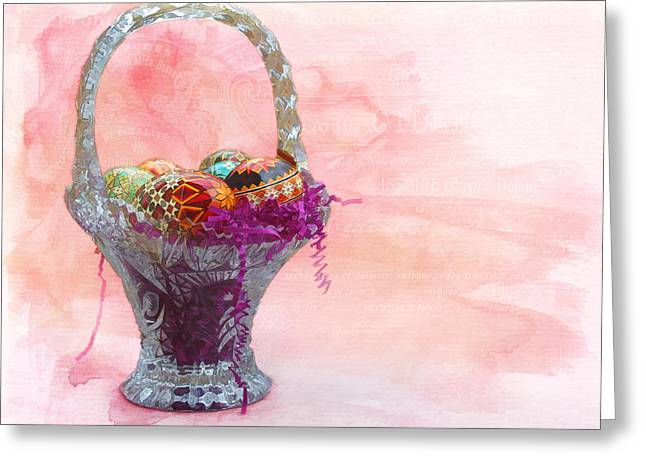 Basket Of Joy Greeting Card by Kathleen Holley