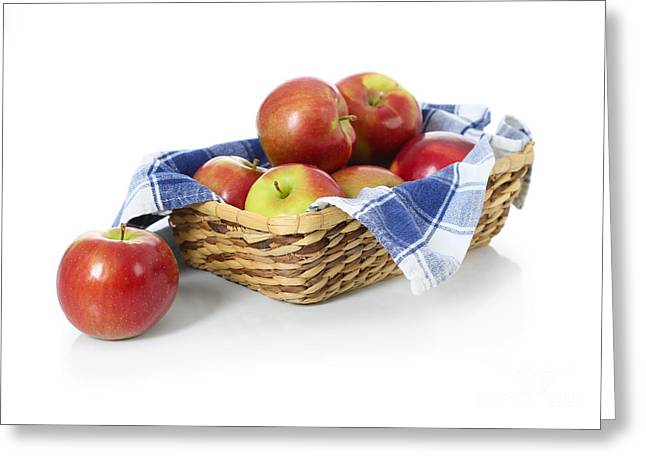 Basket Of Mcintosh Apples Greeting Card