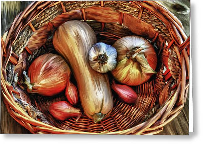 Basket Of Vegetables Greeting Card by Sharon Beth