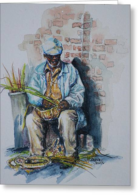 Basket Weaver Greeting Card