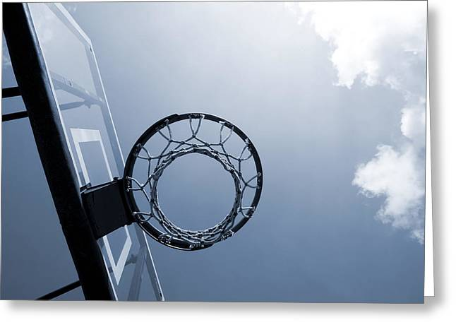 Basketball Hoop Greeting Card by Samir Hanusa