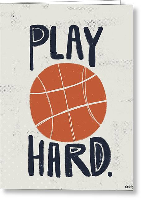 Basketball Greeting Card by Katie Doucette