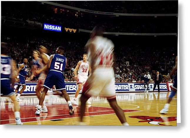 Basketball Match In Progress, Chicago Greeting Card