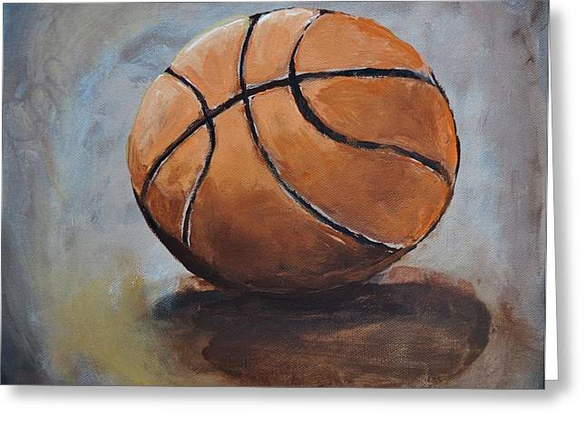 Basketball  Greeting Card by Shannon Lee