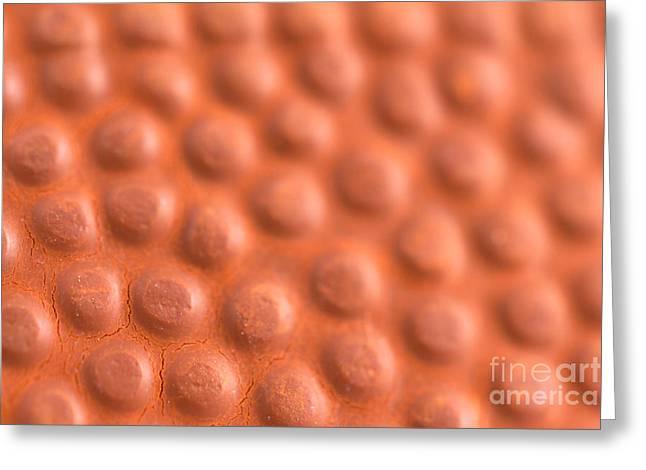 Basketball Texture Greeting Card by Kyra Savolainen