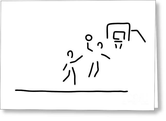 Basketball Usa Basketball Player Greeting Card