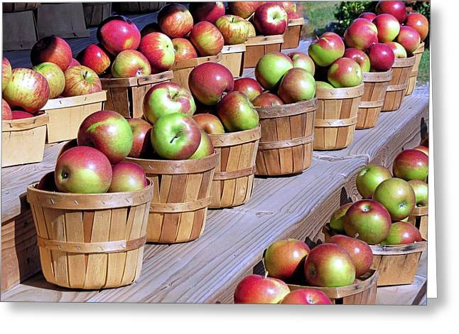 Baskets Of Apples Greeting Card