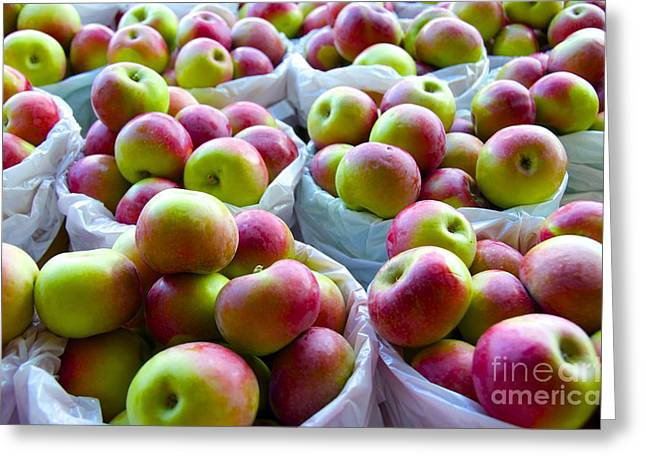 Greeting Card featuring the photograph Baskets Of Apples  by Sarah Mullin