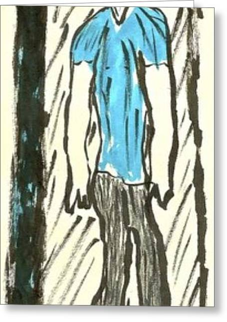 Basquiat - Doorways 11-001 Greeting Card